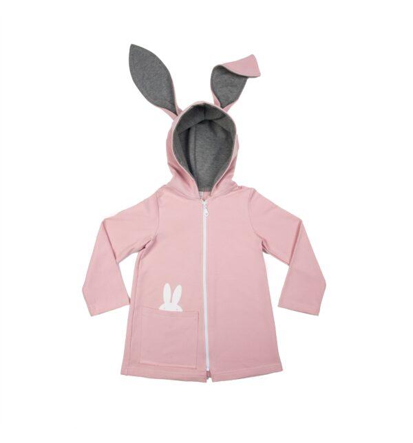 płaszczyk z uszami królika. Bluza z uszami królika