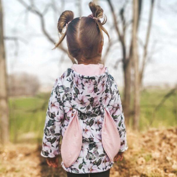 Bluza w kwiaty z uszami królika