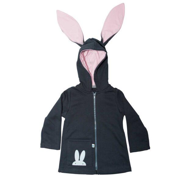 Bluza z uszami królika. Płaszczyk z uszami królika